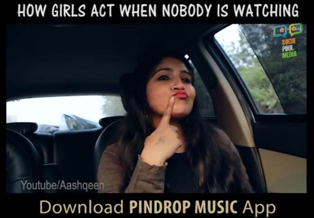 PindropMusic App – How Girls React When Nobody is Watching