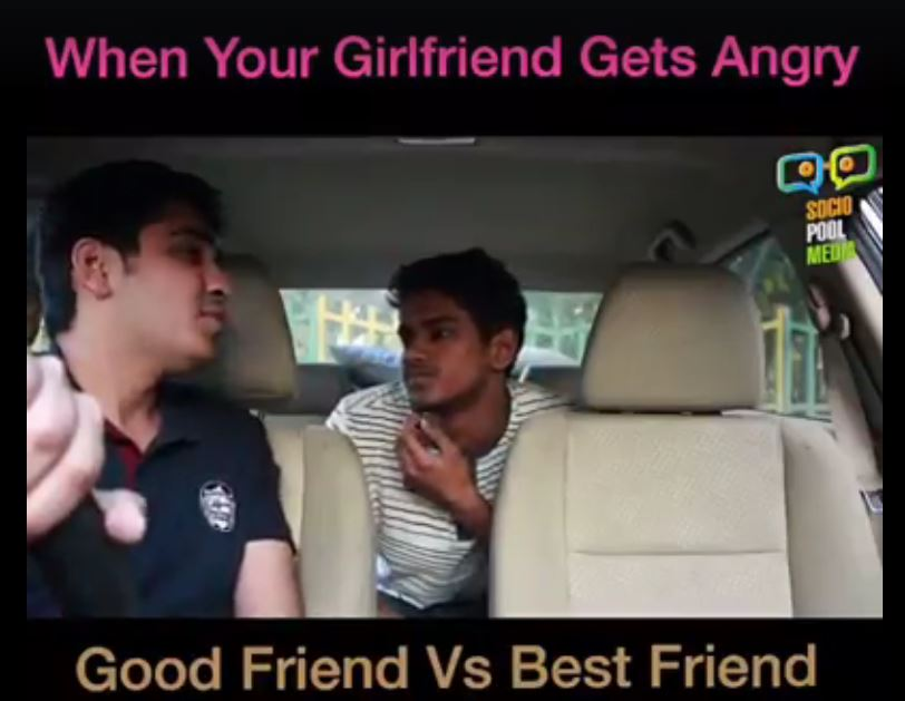 PindropMusic App – When Girlfriend Gets Angry – Good Friend Vs Best Friend